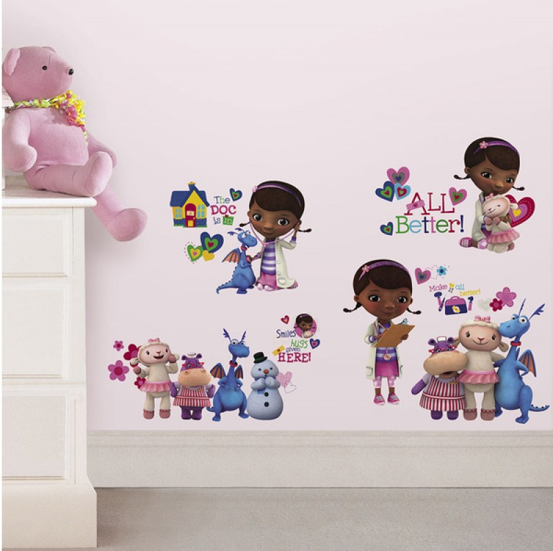 Fine wallstickers for barnerommet